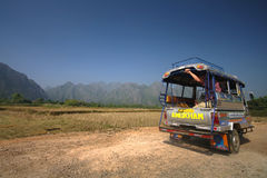 Traveling in South East Asia on Tuk-Tuk Stock Photo