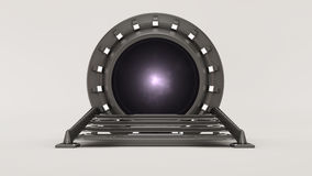 Traveling through space and time 3d render. Ing Royalty Free Stock Image