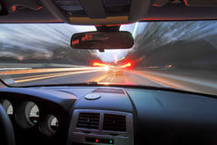 Traveling at speed of light Royalty Free Stock Images