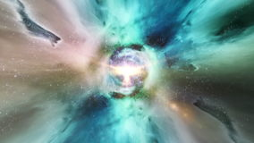 Traveling through star fields in deep space - Event Horizon 0102 HD stock footage