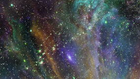 Traveling through star fields in deep space. Space 2041: Traveling through star fields in deep space (Loop stock footage