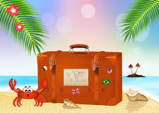 Traveling suitcase Stock Images
