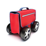 Traveling suitcase on wheels Royalty Free Stock Photos