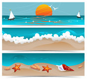 Traveling Summer Banners Stock Images