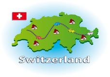 Traveling in Switzerland Royalty Free Stock Photo