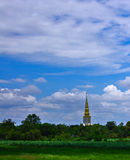 Traveling Thai, sky and temple Stock Images