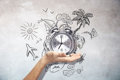 Traveling time concept Stock Image