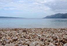 Traveling to the Adriatic Sea with the view of mountains royalty free stock photos