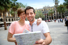 Traveling to Barcelona Royalty Free Stock Image