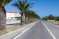 Traveling to the beach of Costa Dorado, Spain Royalty Free Stock Image