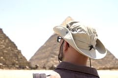 Traveling to Cairo Giza Egypt to see the Pyramids. Wonderful summer travel destinations to Egypt the Pyramids of Giza Stock Image