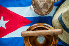 Traveling to Cuba for vacation check list. Royalty Free Stock Photography