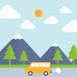 Traveling to the garden by car Royalty Free Stock Images
