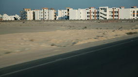 Traveling to Kairo. EGYPT - APRIL 28:Apartment buildings in deserted place stock video footage