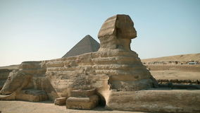 Traveling to Kairo. EGYPT - APRIL 28: Huge statue sphinx from Egypt times stock video