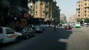 Traveling to Kairo. EGYPT - APRIL 28: Traffic kaos in city of Kairo stock video
