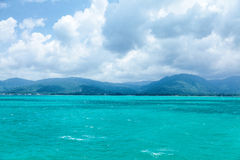 Traveling to Koh Samui. Gulf of Thailand, photographed while traveling to Koh Samui island from Surat Thani by ferry Stock Image