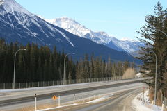 Traveling to rocky mountains, canada royalty free stock photography