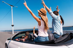 Traveling together is great fun. Royalty Free Stock Photo