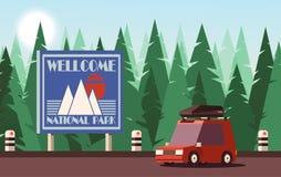 Traveling or Tourism Concept. Vector 2D Illustration. royalty free illustration