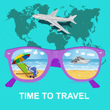 Traveling, tourism and vacations concept, vector Royalty Free Stock Images