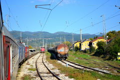 Traveling by train,Bulgaria Stock Images
