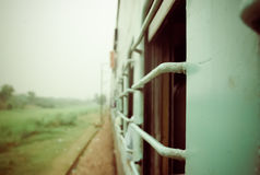 Traveling by train in India Royalty Free Stock Image