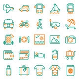 Traveling and transport icon set. Traveling and transport icons for Web and Mobile App. Vector illustration on white background Stock Photography