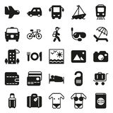 Traveling and transport icon set. Traveling and transport icons for Web and Mobile App. Vector illustration on white background Stock Photo