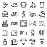Traveling and transport icon set. Traveling and transport icons for Web and Mobile App. Vector illustration on white background Royalty Free Stock Images