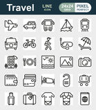 Traveling and transport icon set. Traveling and transport icons for Web and Mobile App. Vector illustration on white background Royalty Free Stock Photos