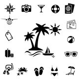 Traveling and transport icons royalty free stock photography