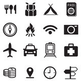Traveling and transport icons Stock Photos