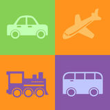 Traveling transport icons  Stock Images