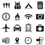 Traveling and transport icons for Web and Mobile App. Rounded Stock Images