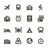 Traveling and transport icons. Stock Photo