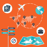 Traveling, transporting, planning a route, tourism and journey. Traveling, transporting planning a route  tourism and journey Stock Images