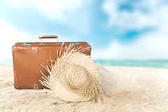 Traveling. Summer beach outdoor leisure preparation natural Royalty Free Stock Photos