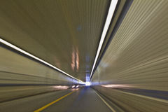 Traveling in Tunnel royalty free stock photo