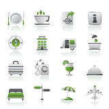 Traveling and vacation icons. Vector icon set Stock Images
