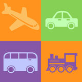 Traveling vehicles Stock Photos