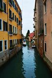 Traveling in Venice, narrow canal, Italy Royalty Free Stock Photos