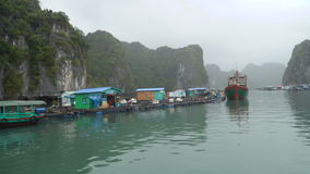 Traveling through the village on the water stock video footage