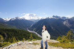 Traveling in Washington. Mt Rainer hiking trail Stock Photography