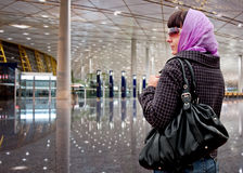 The traveling woman Stock Image