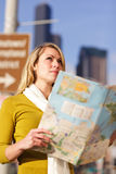 Traveling woman Stock Image