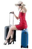 Traveling woman Royalty Free Stock Photo