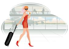 Traveling Woman Royalty Free Stock Image