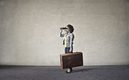 Traveling woman Stock Images