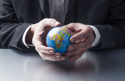 Traveling for work or taking care of the planet when travelling Stock Photo